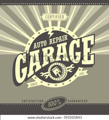 vintage auto shop designs