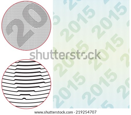 "Classic guilloche background like those seen on diplomas, stock certificates, etc. For more see ""Guilloche"" in my gallery. - stock vector"