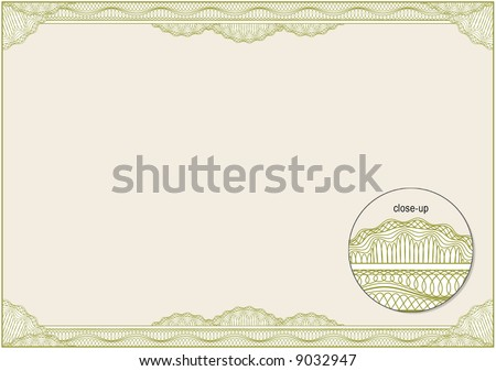 Classic guilloche border for diploma or certificate. A4 / CMYK Layers are separated! - stock vector