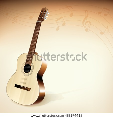 Classic Guitar Background Theme (EPS10) - stock vector
