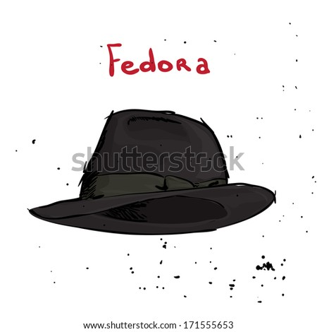 Classic hat on white background - stock vector