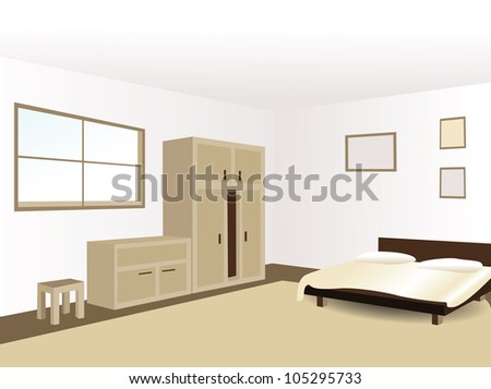 Classic house inside - stock vector