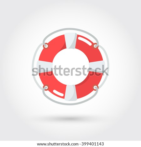 classic lifebuoy icon - stock vector