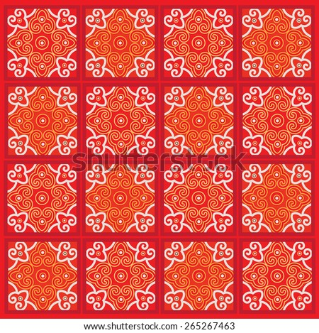 Classic oriental traditional background pattern illustration design - stock vector
