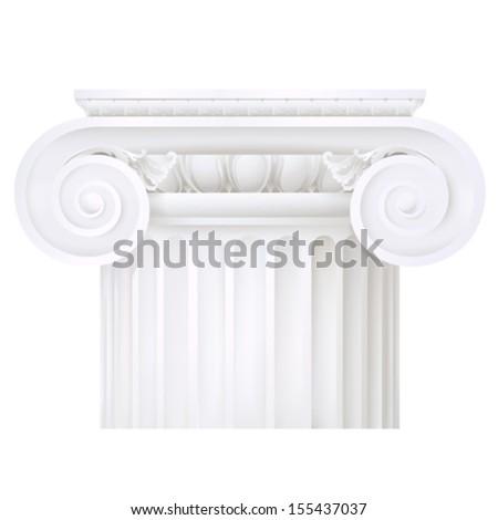 classic style column - stock vector