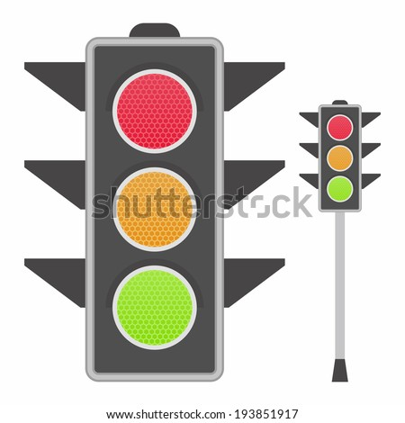 Classic traffic lights - stock vector