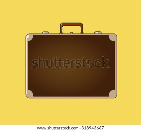 Classic vintage luggage suitcase for travel. Vector Illustration. Editable and isolated. - stock vector