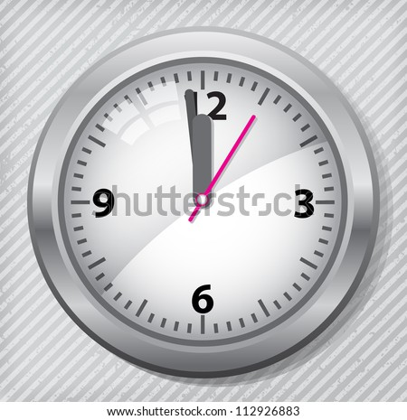 classic wall clock on the wall - stock vector