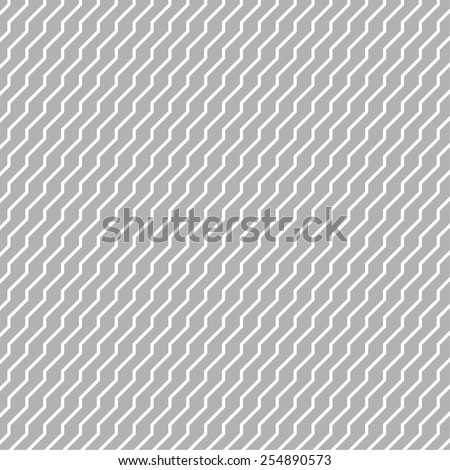 Classical monochrome geometric seamless pattern  with curved lines - stock vector