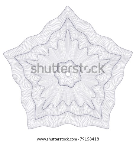 Classical vector pattern that is used in currency, tickets, diplomas, certificates etc. - stock vector