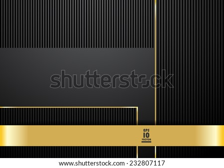 Classy background in black and gold color - stock vector