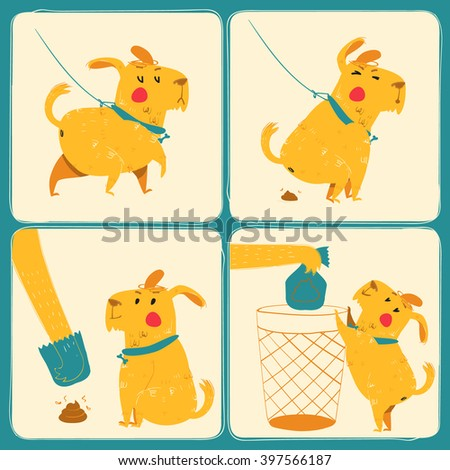 Clean after your dog - stock vector