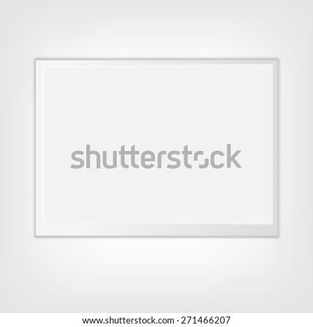 Clean billboard for advertising, vector illustration - stock vector
