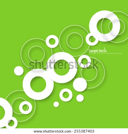 Clean Circles Design Background - stock vector