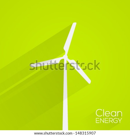 Clean energy concept. Flat design. Vector illustration. - stock vector