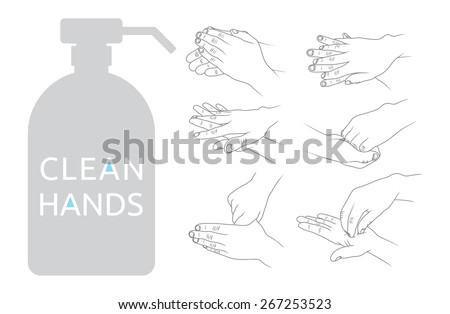Clean hands vector illustration - stock vector