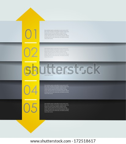 clean numbered banners for sample text, Vector design - stock vector