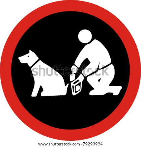 Clean up after your pet in vector - stock vector