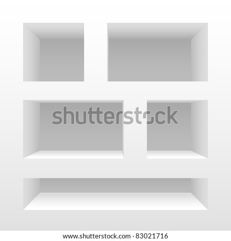 Clean vector empty shelves. - stock vector