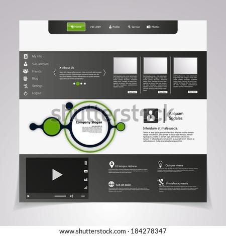 Clean Website Template  - stock vector