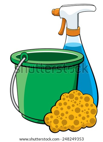 Cleaning Bucket - stock vector