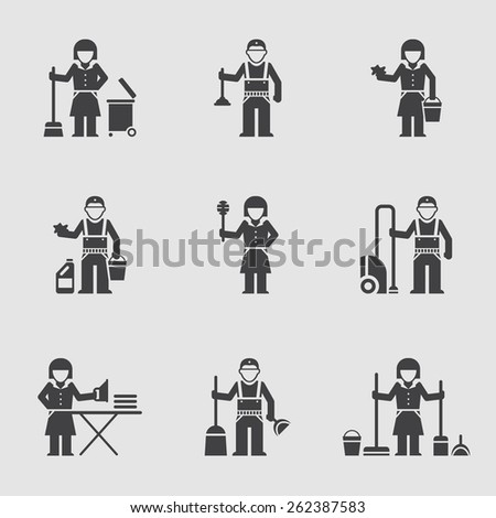 Cleaning company, vector icon, professional cleaning - stock vector
