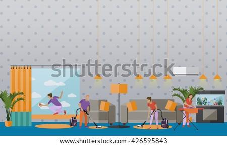 House Cleaning Stock Vectors Vector Clip Art Shutterstock