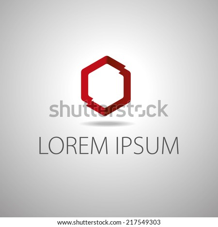 Clear minimal logo template. Corporate logo design. Creative rhombus vector. - stock vector