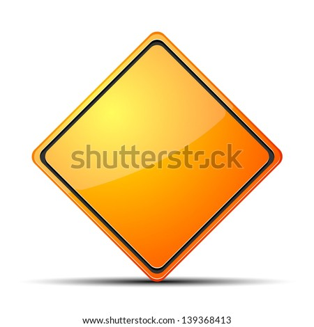 Clear Warning Sign - stock vector