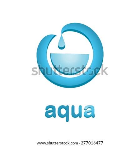 Clear water logo design - stock vector