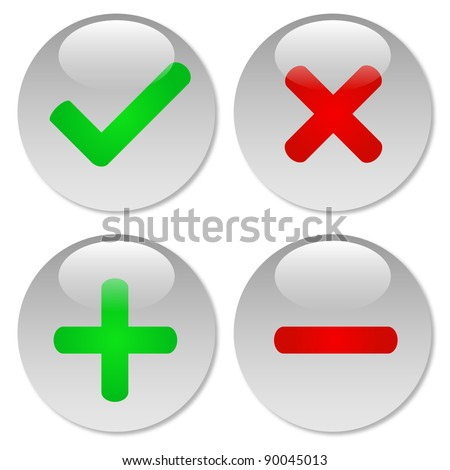 Clear Web Buttons - stock vector