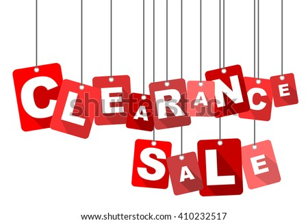 clearance sale, red vector clearance sale, red tag clearance sale, flat vector clearance sale, element clearance sale, sign clearance sale, design clearance sale, background clearance sale - stock vector