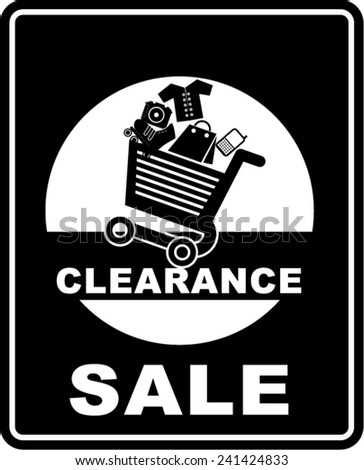 Clearance Sale, sticker  - stock vector