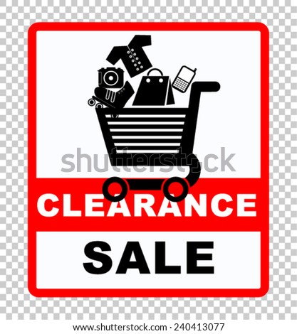 clearance sale, sticker vector - stock vector