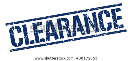 clearance stamp.stamp.sign.clearance. - stock vector