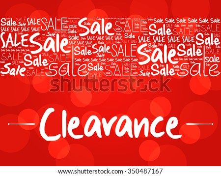Clearance word cloud background, business concept - stock vector