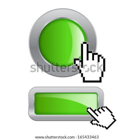 Click button - stock vector