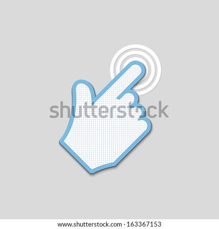 click. hand icon pointer textured. vector eps8 - stock vector