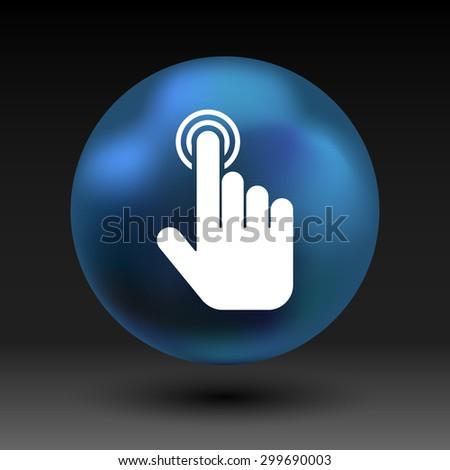 click. hand icon pointer vector finger pointer. - stock vector