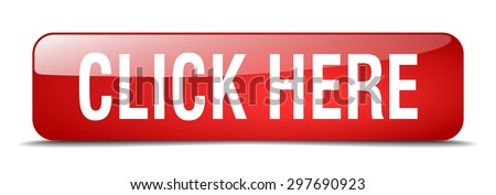 click here red square 3d realistic isolated web button. click here button. click here. click here sign. - stock vector