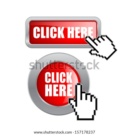 Click here vector buttons - stock vector