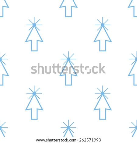 Click white and blue seamless pattern for web design. Vector symbol - stock vector
