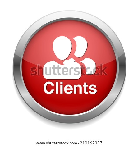 Clients icon - stock vector
