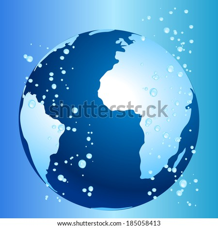 Climate change and global warming concept - stock vector