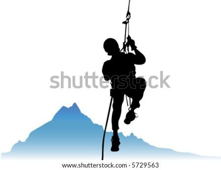 climber vector 2 - stock vector