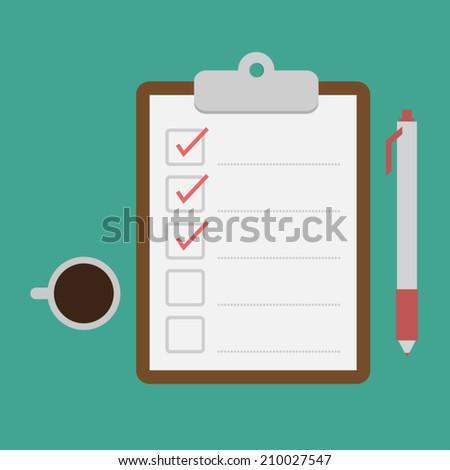 clipboard and checklist - stock vector