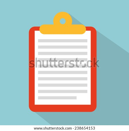 clipboard paper - stock vector