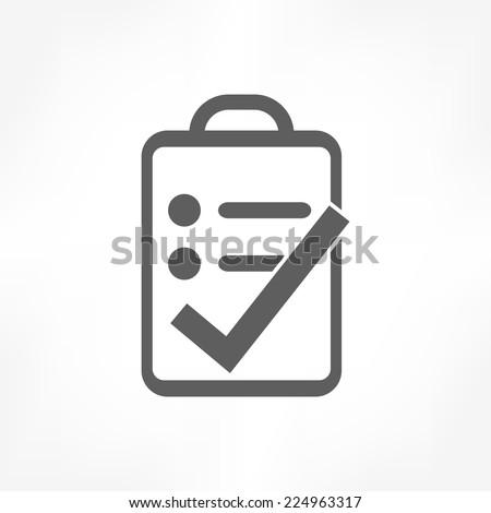 clipboard right icon  - stock vector