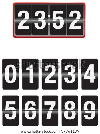 clock counter - stock vector