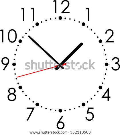 Clock dial. Vector illustration - stock vector